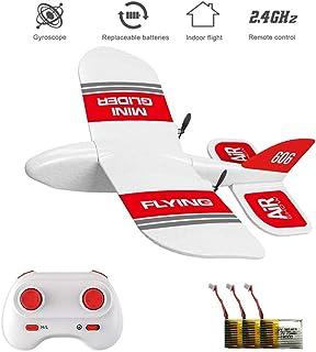 XFUNY KF606 2.4Ghz 遥控飞机迷你室内飞行飞机 EPP 泡沫滑翔玩具飞机内置陀螺仪 RTF 遥控玩具儿童礼物 Kf606+3 Battery