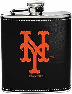 Boelter Brands MLB 纽约大都会扁壶不锈钢,球队颜色,均码