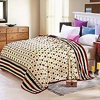 木茶 毛毯家用雪貂绒加厚毛毯单人床双人床绒毯 铺盖毯子 3裸婚圆点 180*200cm