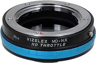 Vizelex ND 节流门镜头安装适配器 - Minolta Rokkor (SR/MD / MC) SLR 镜头到三星 NX 无镜像相机机身带内置可变 ND 滤镜(1 至 8 个点)