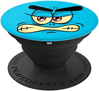 Blue Monster Face Phone Popper - PopSockets 手机和平板电脑抓握支架260027  黑色
