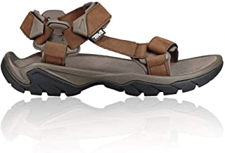 Teva 男士 Terra Fi 5 通用皮革男士凉鞋