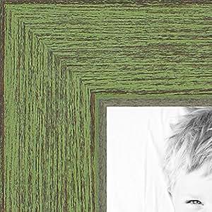 ArtToFrames 5x18 inch Jade Rustic Barnwood Wood Picture Frame, 2WOM0066-1343-YGRN-5x18
