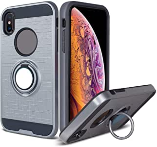 iPhone Xs max TPU 360 Ring case 灰色
