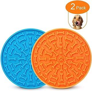 ALLYGOODS 狗狗舔垫,2 件装宠物食品垫,硅胶狗舔慢速喂食器碗垫,带强力吸盘,用于*、洗澡训练,防水