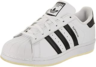 adidas 阿迪达斯 中性儿童 Originals Superstar 运动鞋 White & Black 5 UK