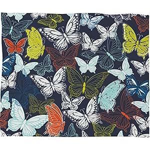 Deny Designs Vy La Butterfly 天蓝色羊毛毯 小号 50408-flesma