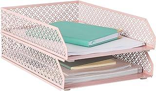 Blu Monaco 粉色纸托盘 - 2 件套