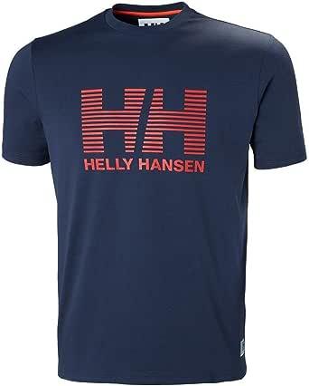Helly Hansen 中性款 HH 圆领 T 恤 - 晚间蓝,XL 码