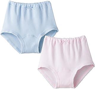 (郡是)GUNZE 童装 女童 全季节(室内晾干、抗菌防臭) 100%纯棉% 短裤 2件装 AF5775B 1B 1B(粉色×浅灰蓝) 110