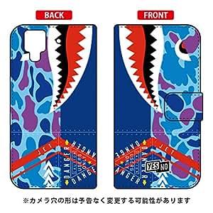 YESNO 手册式智能手机壳 鲨鱼 鸭嘴蓝/for arrows NX F-02H/docomo DFJ02H-IJTC-401-N276