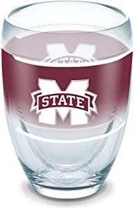 Tervis 1291427 密西西比州斗牛犬原装玻璃杯,带包装,236.56 毫升无*杯,透明