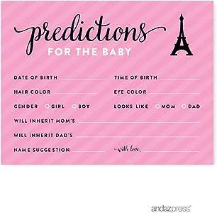 Andaz Press Paris Bonjour Bebe Girl 婴儿派对系列 卡片预测 AP15675