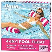"Aqua Leisure-Domestic Toys 4-in-1 Monterey Hammock Aqua Lounge, Pink, 10.25"" x 11.5"" x 1.5"""