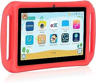 Xgody T702 7 英寸安卓儿童平板电脑适用于儿童互联网级四核安卓 8.1 1GB RAM 16GB ROM 触摸屏带 WiFi 预加载 3D 游戏双摄像头儿童*幼儿平板电脑蓝色T702