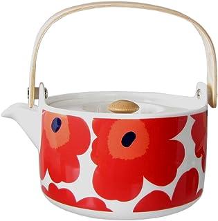 马里梅科 marimekko 茶壶 茶壶 UNIKKO 白色・红色700ml 63435 001 63435 001