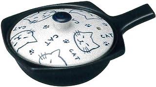 CtoC JAPAN Select 单柄锅 蓝色 眼球烧 15.5x11.7x6.5cm 微波炉 烤箱 16-14257/2-976820 万古烧