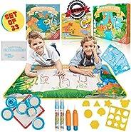 儿童用水涂鸦垫 - 超大号 71.12 x 101.60 cm 儿童水绘画垫 - *多供 6 个儿童同时使用,让他们忙碌和娱乐