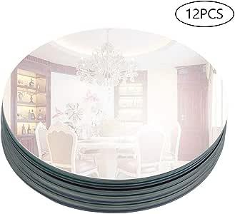"Murrey Home 12 个装圆镜托盘/盘子适用于婚礼、圣诞节和派对装饰 12""x12pcs unknown"