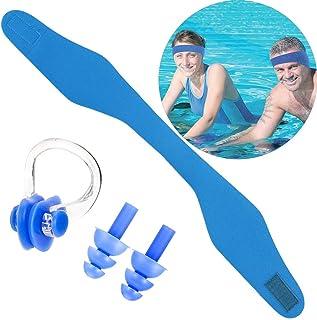 ZYXY 游泳头带耳塞硅胶耳塞鼻夹耳塞耳鼻托游泳套装 适合成人和儿童