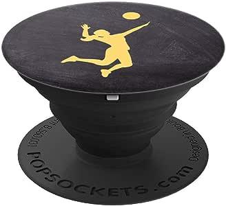 排球女孩女运动员教练海滩排球礼品球球球球夹具和支架适用于手机和平板电脑260027  黑色