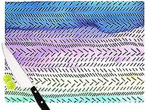 "Kess InHouse Sreetama Ray""Aqua"" 砧板 蓝色 蓝色 11.5 by 8.25-Inch SR1001ACB01"