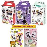 Fujifilm Instax 迷你即时胶片套装 5 盒,包括迪尼 3 盒 Mickey& Alice & Pooh