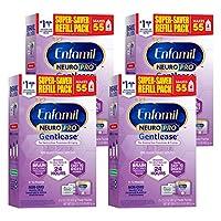 Enfamil 美贊臣 NeuroPro Gentlease 1段 0-12個月 適度半水解 嬰兒配方奶粉 862g/盒 4盒裝 防脹氣配方