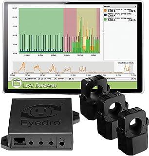 Eyedro 商用电量监测仪 – 3相(多相)功率监测,提供每日、每周和每月的功耗报告以及电费估计值 EBEM1-LV