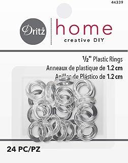 Dritz Home 24只装塑料戒指,1/2英寸,透明