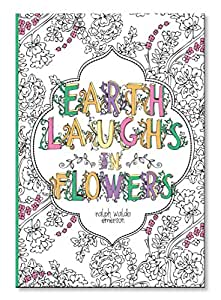 C.R. Gibson Coloring Journal Book, Earth Laughs In Flowers