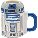 Vandor 99401 Star Wars R2-D2 20 oz Ceramic Sculpted Mug, Blue/White