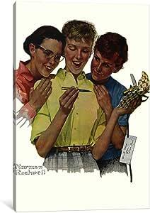 "iCanvasART 1 件 He Sent Me a Parker 笔帆布画 Norman Rockwell 创作 12"" x 8"" NRL249-1PC3-12x8"