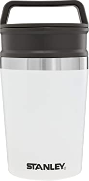 Stanley Adventure 可堆叠饮水杯,0.47升,不锈钢,18/8不锈钢,真空绝缘,保温杯 极白 236 ml