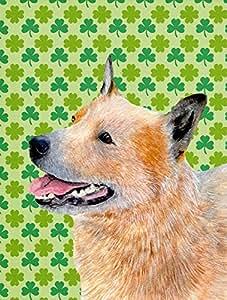 Australian Cattle Dog St. Patrick's Day Shamrock Flag 多色 大
