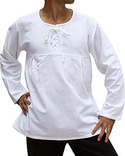 Svenine 圆形 Groundsmans 领长袖棉质复兴衬衫