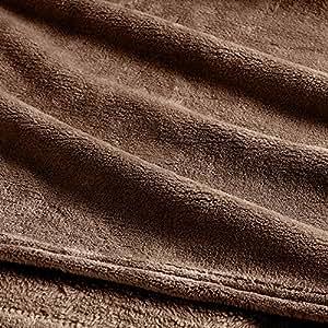Clara Clark 超细摇粒绒毛毯 - 超舒适保暖婴儿毯 棕色 Queen VEN-Fleece-New-Q-Brown