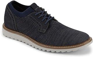 Dockers 男士 Einstein 针织/皮革智能系列正装休闲牛津鞋 NeverWet *蓝/灰色 11.5
