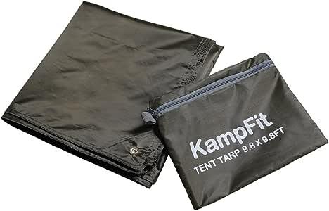 KampFit 9.8'x9.8' 防水帐篷脚印露营防水台,6 个超轻帐篷桩 KT-DX-B