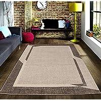 Msrugs 摩纳哥系列现代客厅地毯 300-brown 2'X3' MNC-300-BEI-BRW-23