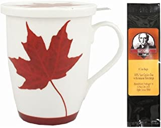 加拿大*茶杯,配有盖子,礼品包装,6 个茶袋,一包 2 个
