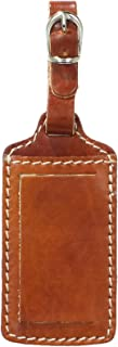 Floto Leather Luggage Tag, Olive Brown, One Size