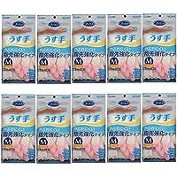 S.T family 乙烯基手套 薄款 清洁时使用 M 粉色×10个