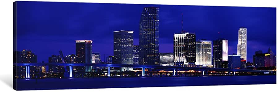 "iCanvasART Miami, Florida, USA Canvas Print by Panoramic Images, 48 by 16""/0.75"" Deep"