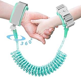 幼儿皮带,带锁的牵引带,反光防丢失手腕链,*腕带步行胸背带,带钥匙锁,婴儿和儿童(1.5 米/4.9 英尺) 鲜*