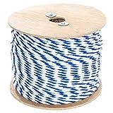 Golberg 扭曲聚丙烯泳池绳(0.64 cm - 1.91 cm)3 股聚丙烯绳 - 轻质实用绳 - 适用于地线、*线、泳池通道等(63.50 m - 182.24 m,蓝色和白色)