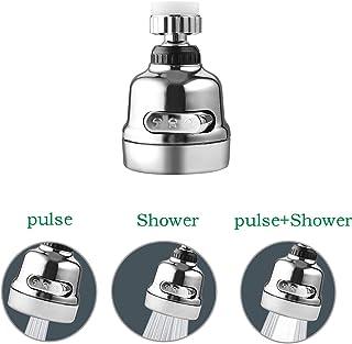可移动厨房水龙头,3种模式可调节水龙头喷头,360°旋转节水龙头,防溅电源喷雾泡龙头,厨房用