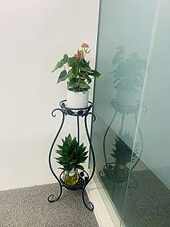 金属盆栽植物支架,32 英寸(约 81.3 厘米)防锈装饰花盆支架,室内和室外铁艺花盆支架,花园花盆容器支撑展示架
