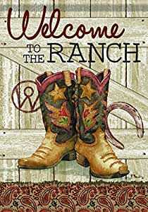 """Carson Welcome To the Ranch Flag House - 28""""x40"""""""