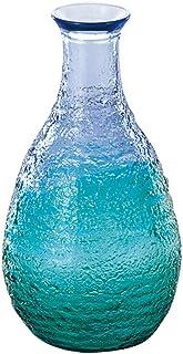东洋佐佐木玻璃 清酒杯 珊瑚海 蓝色绿色 日本制 290ml WA165CB/EG